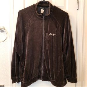 Men's Sean John Full Zip Velour Sweater